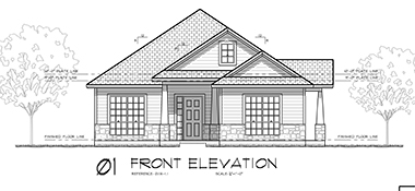 3997 Vail Lane, Bryan, Texas - Front Elevation